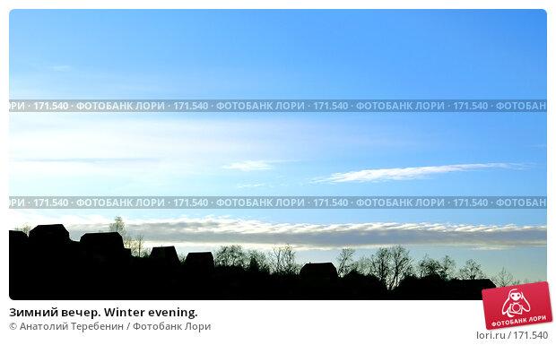 Зимний вечер. Winter evening., фото № 171540, снято 7 января 2008 г. (c) Анатолий Теребенин / Фотобанк Лори