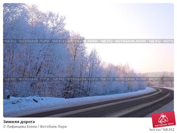 Зимняя дорога, фото № 168912, снято 5 января 2008 г. (c) Лифанцева Елена / Фотобанк Лори