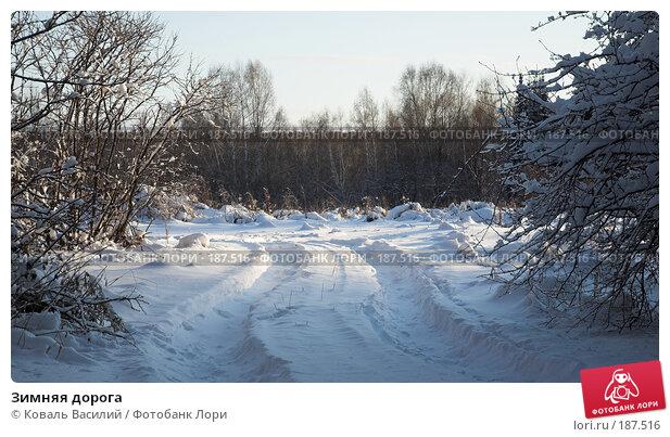 Зимняя дорога, фото № 187516, снято 10 ноября 2007 г. (c) Коваль Василий / Фотобанк Лори