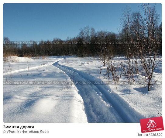 Зимняя дорога, фото № 226520, снято 12 февраля 2007 г. (c) VPutnik / Фотобанк Лори
