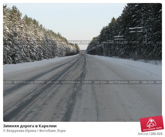 Зимняя дорога в Карелии, фото № 286024, снято 24 февраля 2007 г. (c) Безрукова Ирина / Фотобанк Лори