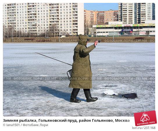 Купить «Зимняя рыбалка, Гольяновский пруд, район Гольяново, Москва», эксклюзивное фото № 237168, снято 30 марта 2008 г. (c) lana1501 / Фотобанк Лори