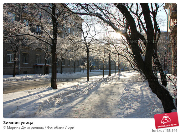 Купить «Зимняя улица», фото № 133144, снято 11 февраля 2007 г. (c) Марина Дмитриевых / Фотобанк Лори