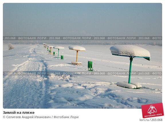 Зимой на пляже, фото № 203068, снято 2 февраля 2008 г. (c) Селигеев Андрей Иванович / Фотобанк Лори
