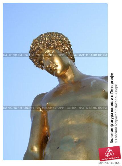 Золотая фигура юноши в Петергофе, фото № 36164, снято 8 августа 2006 г. (c) Евгений Батраков / Фотобанк Лори
