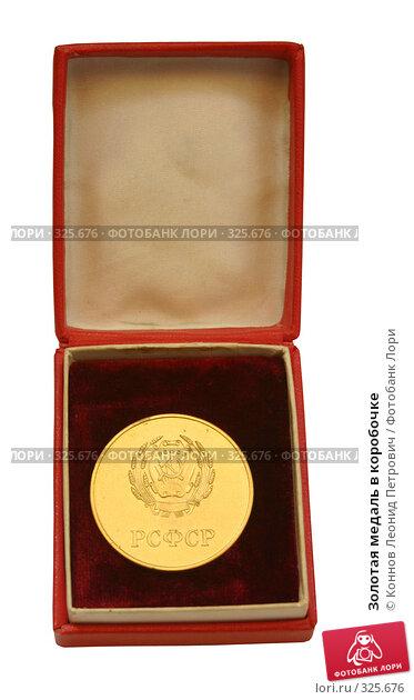 Купить «Золотая медаль в коробочке», фото № 325676, снято 25 апреля 2018 г. (c) Коннов Леонид Петрович / Фотобанк Лори
