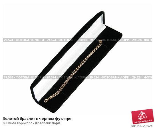Золотой браслет в черном футляре, фото № 29524, снято 1 апреля 2007 г. (c) Ольга Хорькова / Фотобанк Лори