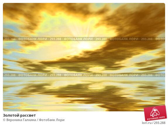 Золотой рассвет, иллюстрация № 293288 (c) Вероника Галкина / Фотобанк Лори