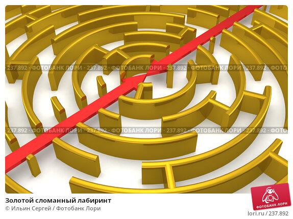Золотой сломанный лабиринт, иллюстрация № 237892 (c) Ильин Сергей / Фотобанк Лори