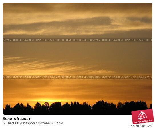 Золотой закат, фото № 305596, снято 1 июня 2008 г. (c) Лысых Константин / Фотобанк Лори
