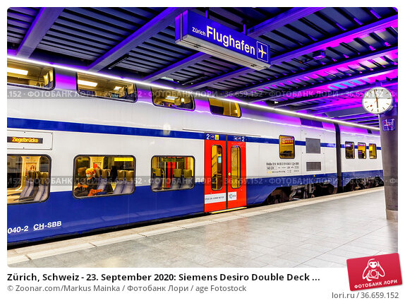 Zürich, Schweiz - 23. September 2020: Siemens Desiro Double Deck ... Стоковое фото, фотограф Zoonar.com/Markus Mainka / age Fotostock / Фотобанк Лори