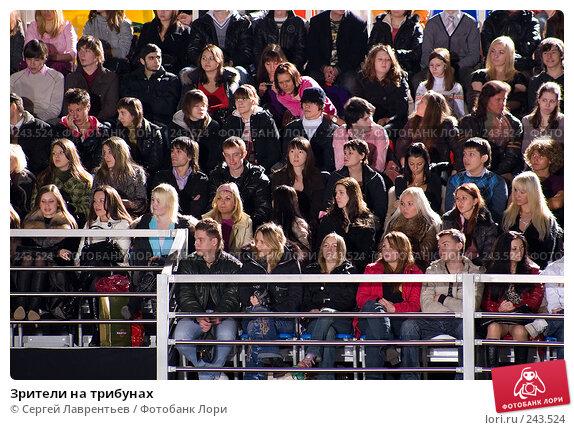 Зрители на трибунах, фото № 243524, снято 24 марта 2008 г. (c) Сергей Лаврентьев / Фотобанк Лори